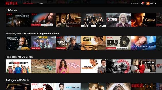 Netflix übereinstimmung
