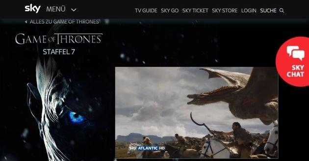 sky ticket game of thrones