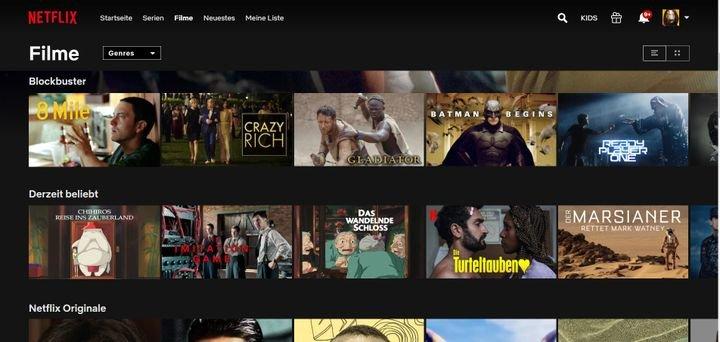 Netflix Filmangebot